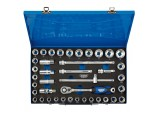 "1/2"" Sq. Dr. Combined MM/AF Socket Set in Metal Case (40 Piece)"