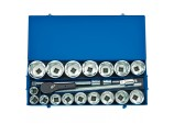 "1"" Sq. Dr. Metric Socket Set in Metal Case (22 Piece)"