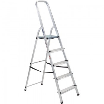 5 Step Aluminium Ladder to EN131