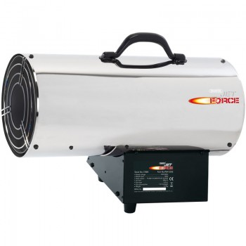Jet Force, Stainless Steel Propane Space Heater (125,000 BTU/37kW)