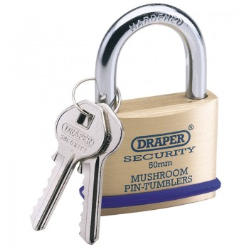 21mm Solid Brass Padlock and 2 Keys with Mushroom Pin Tumblers Hardened Steel Shackle and Bumper