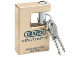 Expert 63mm Quality Close Shackle Solid Brass Padlock and 2 Keys with Hardened Steel Shackle