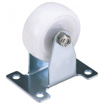 100mm Dia. Fixed Plate Fixing Nylon Wheel - S.W.L. 125Kg