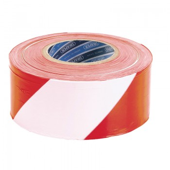 75mm x 500M Red and White Barrier Tape Roll