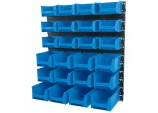 24 Bin Wall Storage Unit (XL/L/M Size Bins)