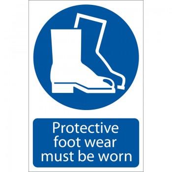 'Protective Footwear' Mandatory Sign