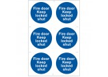 6 x 'Fire Door Keep Locked' Mandatory Sign