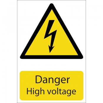 'Danger High Voltage' Hazard Sign