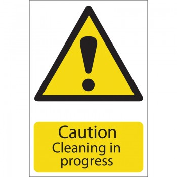 'Caution Cleaning' Hazard Sign