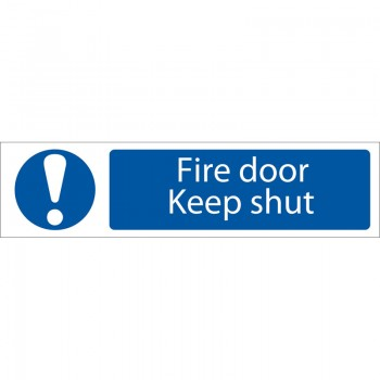 'Fire Door Keep Shut' Mandatory Warning Sign