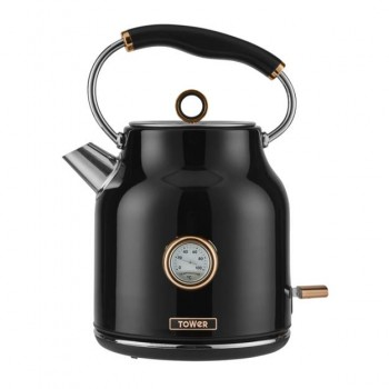 3kW 1.7L Stainless Steel Kettle Black with Rose Gold Accents