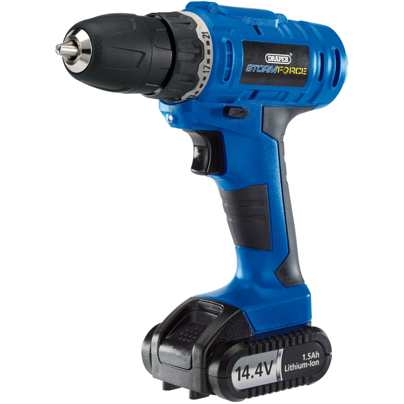 Storm Force® Cordless Rotary Drill with Li-ion Battery (14.4V) – Now Only £44.25