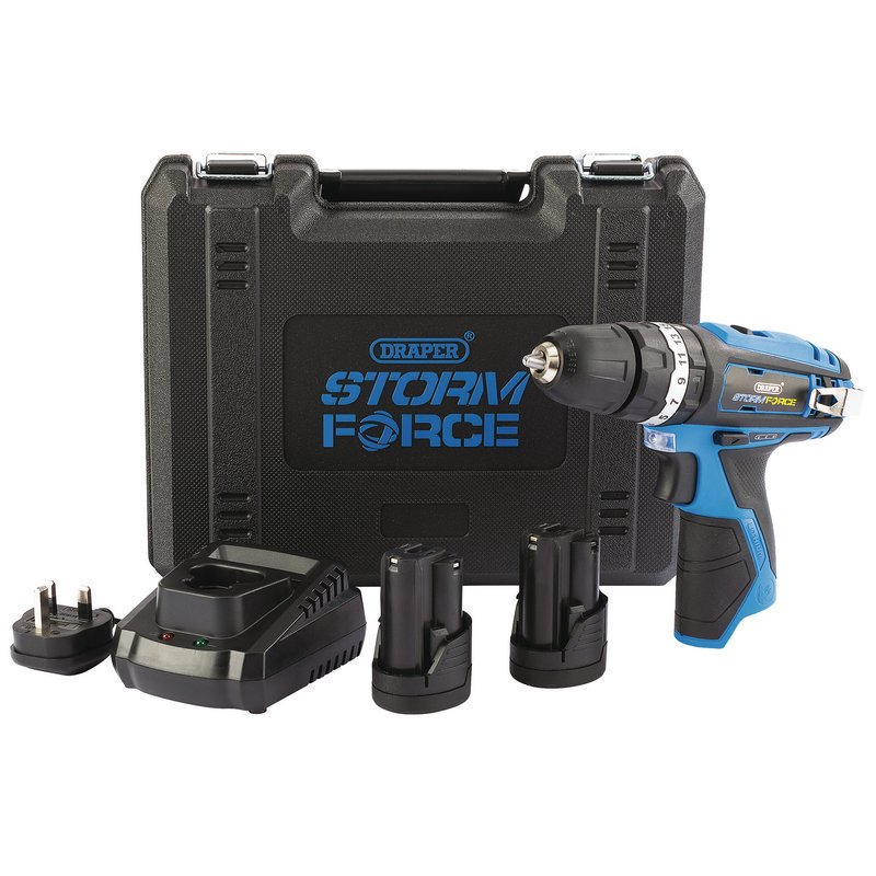 Storm Force® 10.8V Cordless Hammer Drill with Two Li-ion Batteries – Now Only £70.19
