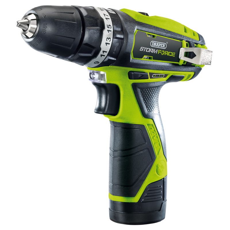 Storm Force® 10.8V Cordless Hammer Drill with Li-ion Battery – Now Only £54.03