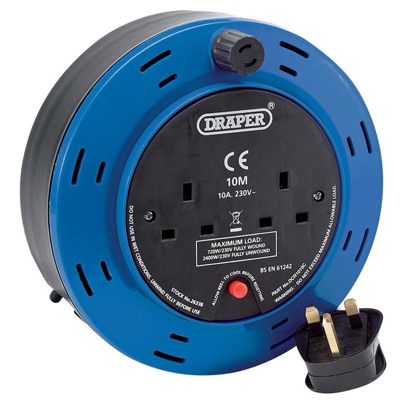 10M 230V Twin Extension Cable Reel – Now Only £15.43