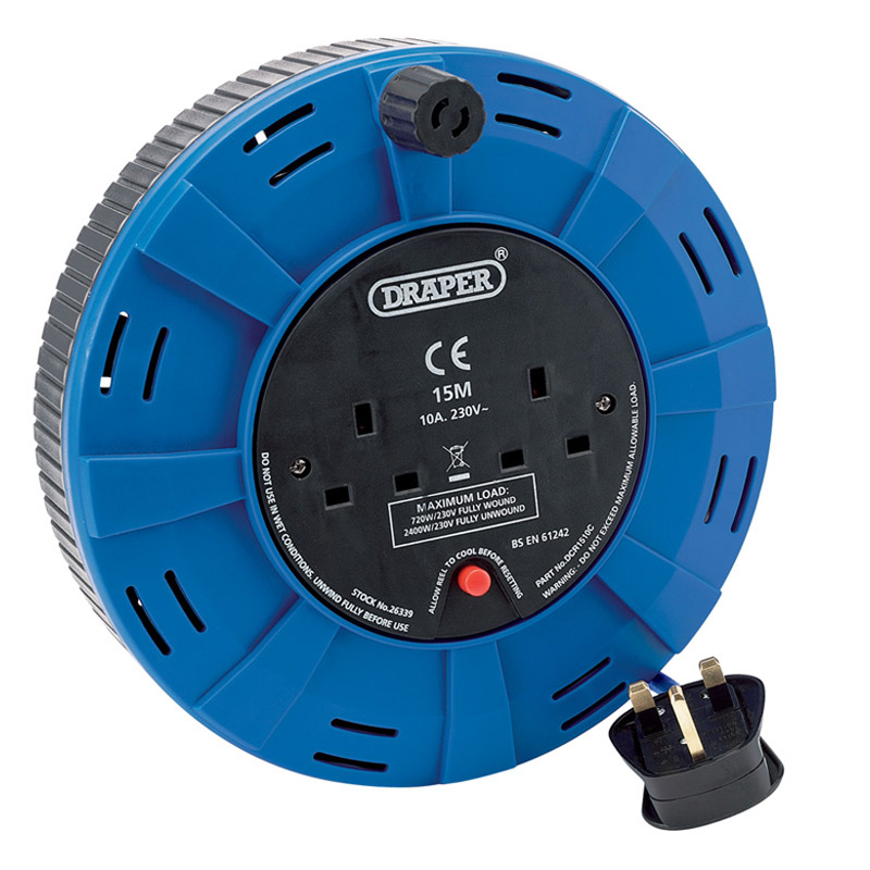 15M 230V Twin Extension Cable Reel – Now Only £18.27
