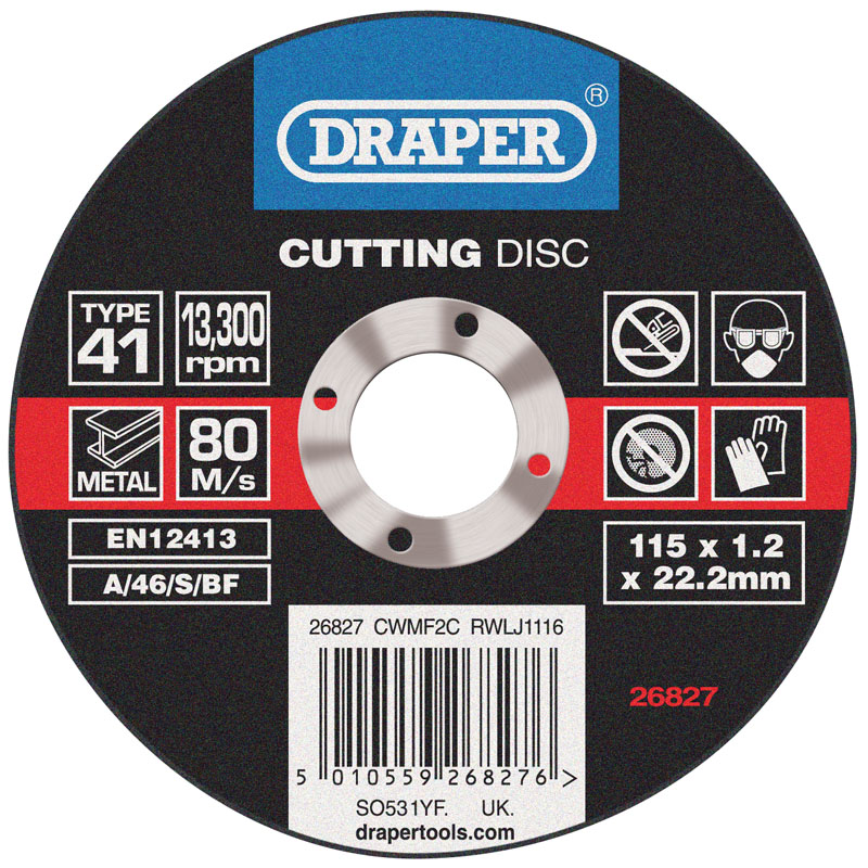 Flat Metal Cutting Discs (115 x 1.2 x 22.2mm) – Now Only £0.67