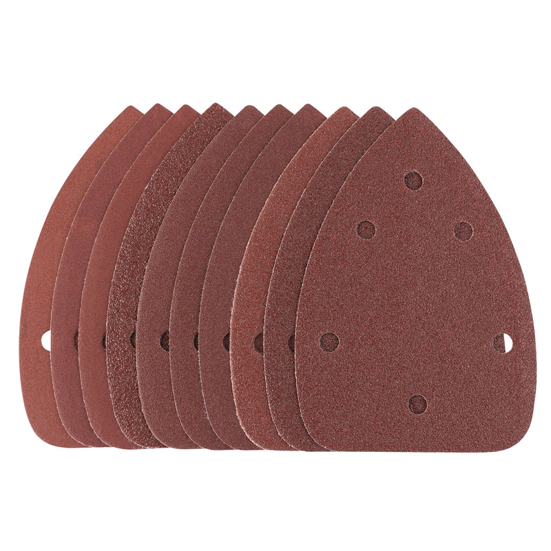 Ten 95 x 140 x 140mm Assorted Grit Hook and Loop Sander – Now Only £2.25