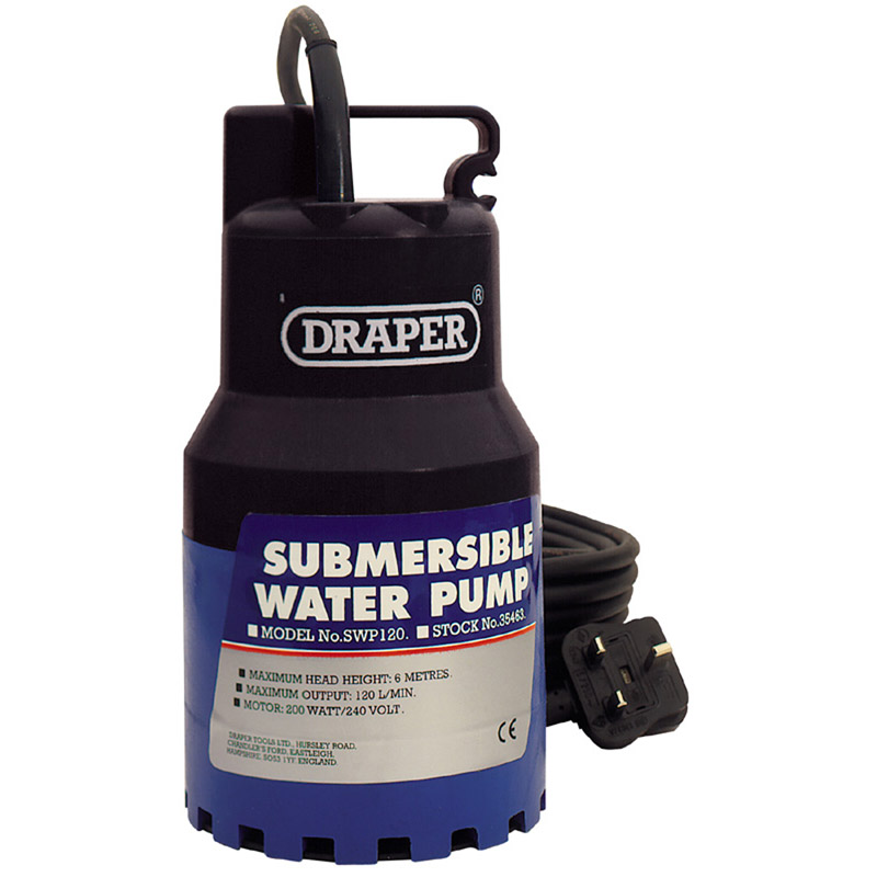 120L/Min 200W 230V Submersible Water Pump – Now Only £61.76