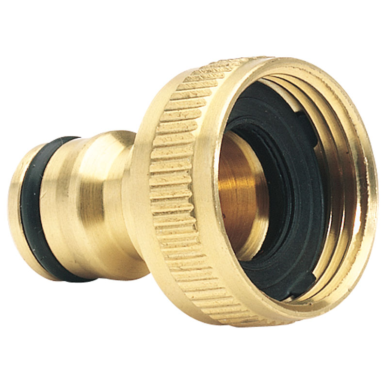 "Brass Garden Hose Tap Connector (3/4"") – Now Only £1.98"