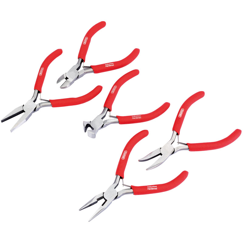 Mini Pliers Set with PVC Dipped Handles (5 Piece) – Now Only £11.36