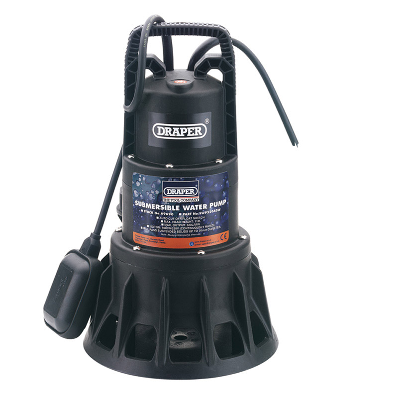 320L/Min 1000W 230V Submersible Dirty Water Pump with Float Switch – Now Only £152.47