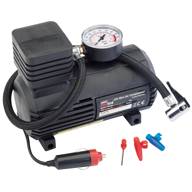 12V Mini Analogue Air Compressor (250Psi Max.) – Now Only £10.56