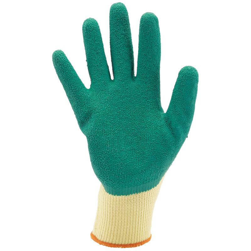 Green Heavy Duty Latex Coated Work Gloves - Extra Large – Now Only £1.54