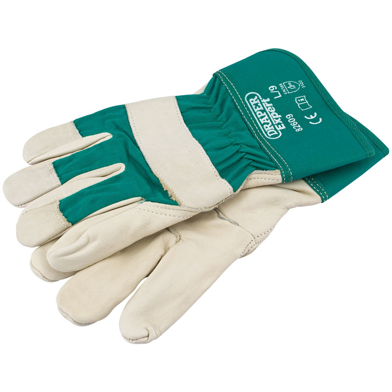 Premium Leather Gardening Gloves - L – Now Only £5.76