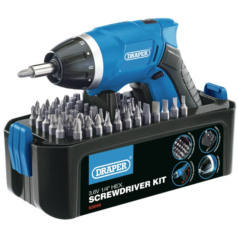 Storm Force® Cordless Li-ion Screwdriver Kit (3.6V) – Now Only £24.56