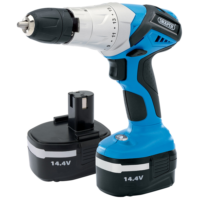 14.4V Cordless Hammer Drill with Two Batteries – Now Only £63.17