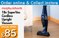 18v SuperVac Cordless Upright Vaccum – Now Only £85.00