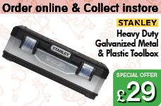 Heavy Duty Galvernized Metal & Plastic Toolbox – Now Only £29.00