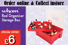 5.04.01 Organiser Box - Red – Now Only £6.00