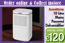 10 Litre Mains Powered Dehumidifier – Now Only £120.00