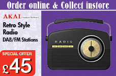 DAB Black and Cream Retro Radio 14w - LCD Display – Now Only £45.00