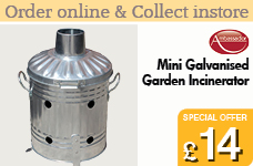 Mini Galvanised Garden Incinerator – Now Only £14.00