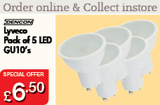 Lyveco Pack of 5 LED GU10's – Now Only £6.50