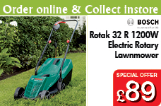 Rotak 32 R - 1200W Electric Rotary Lawnmower – Now Only £89.00