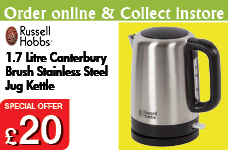 Canterbury Brush Stainless Steel Kettle 1.7L – Now Only £20.00