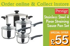 Everyday Stainless Steel Straining 4 Piece Set – Now Only £55.00