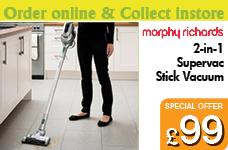 2-in-1 Supervac Stick Vacuum – Now Only £99.00