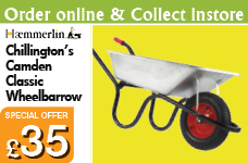 Chillington's Camden Classic Galvanised 85L Pneumatic Barrow – Now Only £35.00