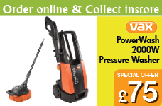Vax Pressure Washer Powerful 2000W – Now Only £75.00
