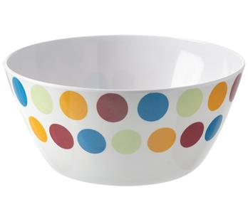 Melamine Salad Bowl - Polka – Now Only £2.00