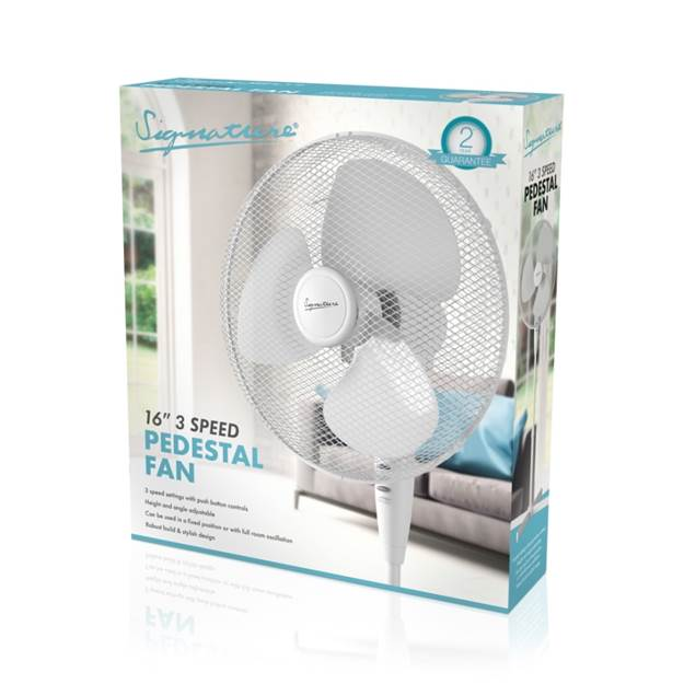 16 inch / 41cm Pedestal Fan – Now Only £18.00