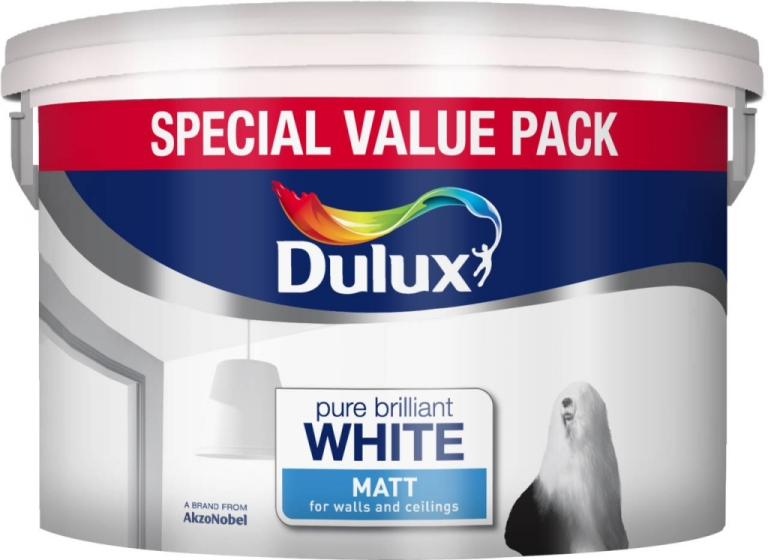 7 Litre Rich Matt Emultion Pure Brilliant White Special Value Pack – Now Only £14.00