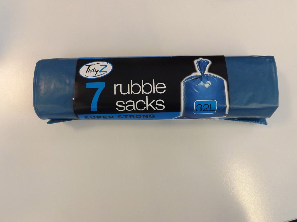 Rubble Sacks Roll of 7 – Now Only £1.50
