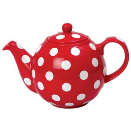 Globe 2 Cup Teapot - Red with White Spots – Now Only £14.00