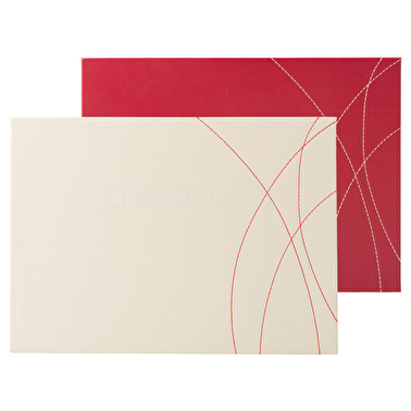 Opulence Pack Of 4 Leather Placemats Cream And Red – Now Only £9.00